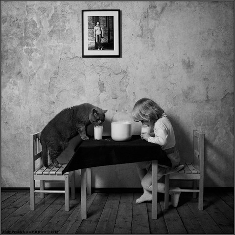 "Фотохудожник Andy Prokh.""Little Girl and Tomcat"" (20 фото)"